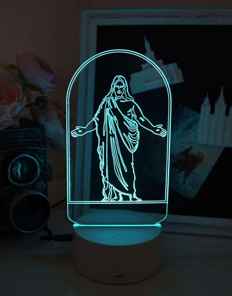 Tiny 3D Temples Christus LED Night Light