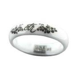 CTR Heavenly Flower White Diamond Ceramic Ring