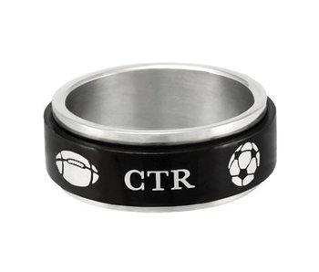CTR Black Sports Spinner Ring