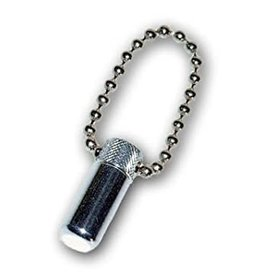 Silver Mini Oil Vial with Chain (Stubby)