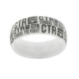 CTR Ring Ceramic White Tabloid