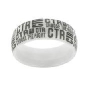 CTR Ring Ceramic White Tabloid