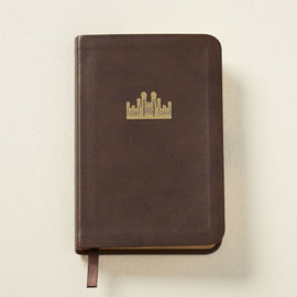 Church Distribution Hymns: Pocket Size, Genuine Leather BROWN