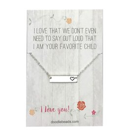 Favourite child necklace Silver