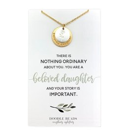Beloved Daughter Nothing Ordinary Necklace (flower)