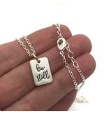 Be Still Necklace Silver