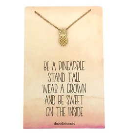 Pineapple Necklace – Be a Pineapple: Stand Tall, Wear a Crown and Be Sweet On The Inside Gold
