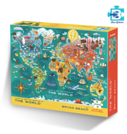 World Temple Map Puzzle - preorder for July 2020