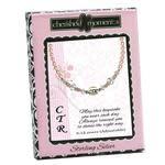 CTR Bracelet, sterling silver, pink pearl