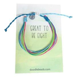 Great to be Eight Thread Bracelet, Friendship Bracelet