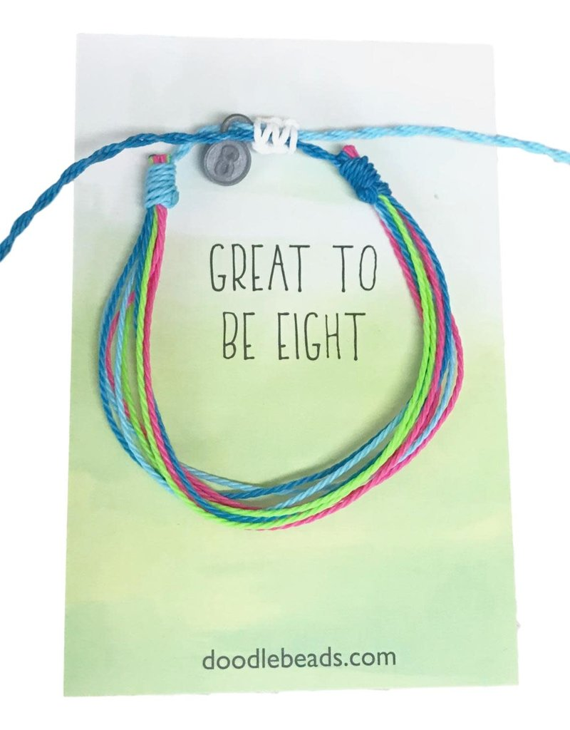 Great to be Eight Thread Bracelet, Friendship Bracelet