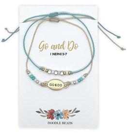 Go and Do Layered Beaded Bracelet Gold