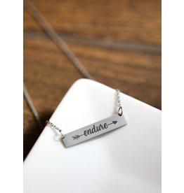 Endure Bar Necklace Silver Finish