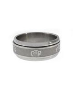 CTR Wide Frosted Spinner Ring