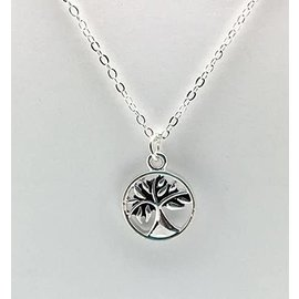Be Like A Tree Necklace Silver