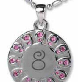 Baptism 8 necklace (pink)