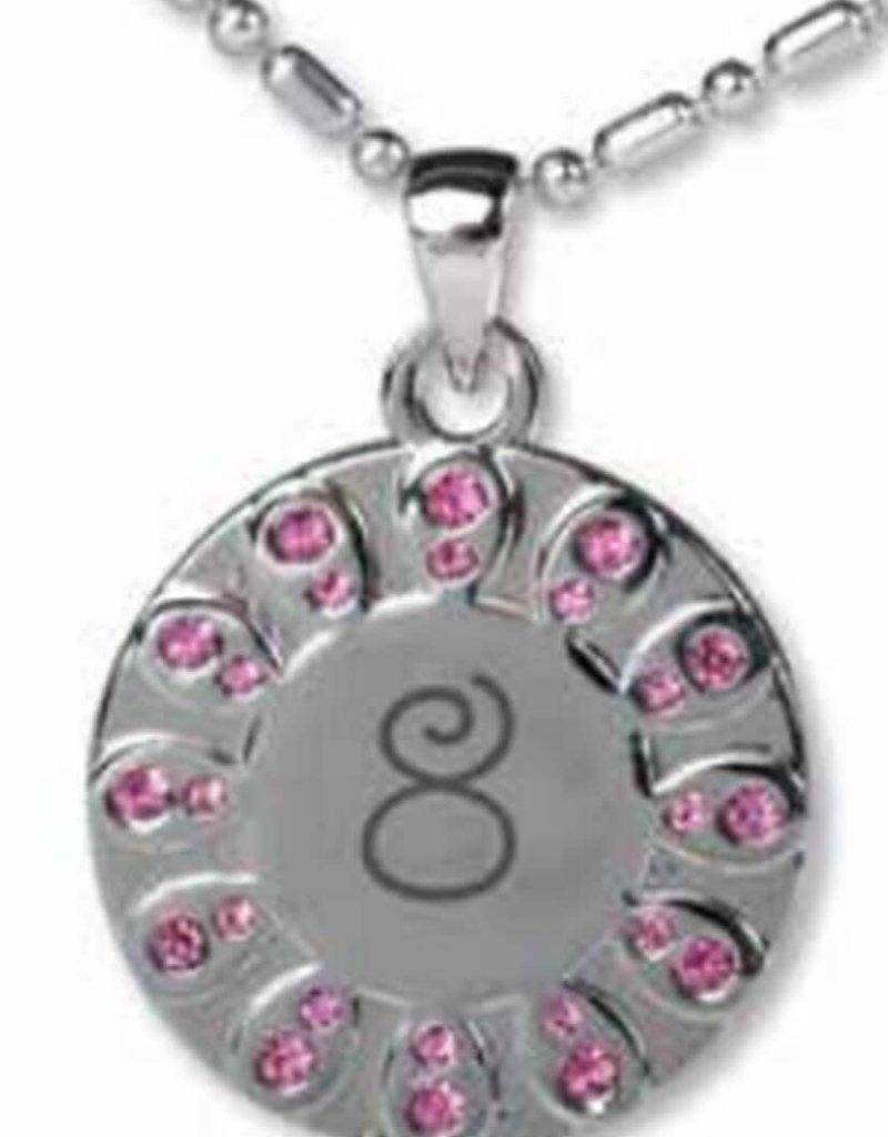 Baptism 8 necklace (pink)
