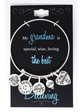 The Best Grandma charm bracelet