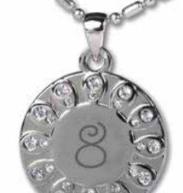Baptism 8 Necklace (white)