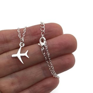 "Airplane Necklace, ""And Off She Went To Change The World"""
