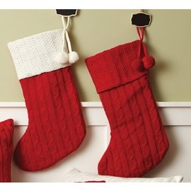 """19"""" Red Knitted Stocking Zions Mercantile"""