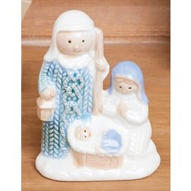 Seagull Books ACCENT HOLY FAMILY PASTEL PORCELAIN 4.5 INCH