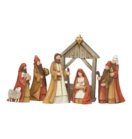 """Dicksons Gifts - 6 Piece Nativity Set 5"""" with Creche"""