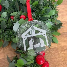 LDSBookstore (USA) Nativity Acrylic Ornament - Joy To The World