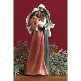 Seagull Books ACCENT HOLY FAMILY RED BLUE RESIN 10 INCH