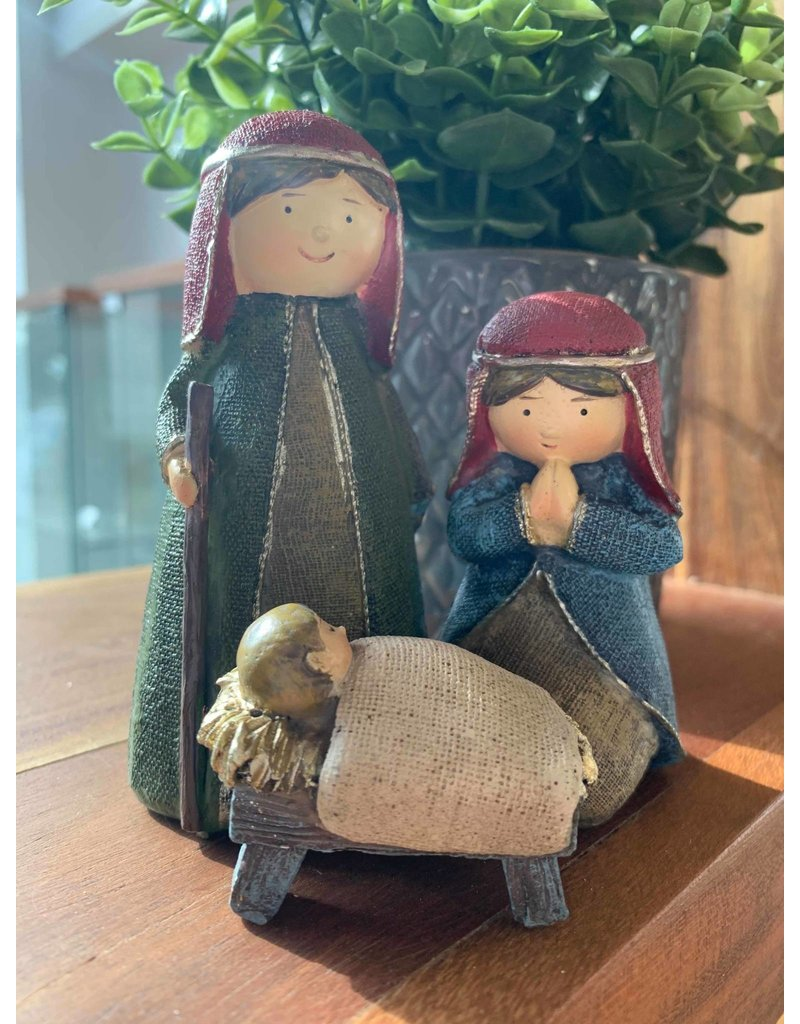 3 Piece Nativity Blue & Red