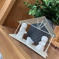 Seagull Books ACCENT HOLY FAMILY WHITE METAL STABLE