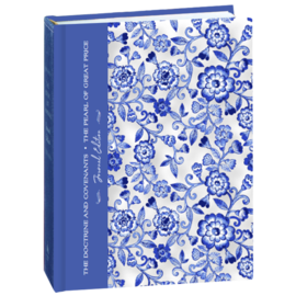 Deseret Book Company (DB) The Doctrine and Covenants and Pearl of Great Price, Journal Edition, Blue Floral by Deseret Book Company