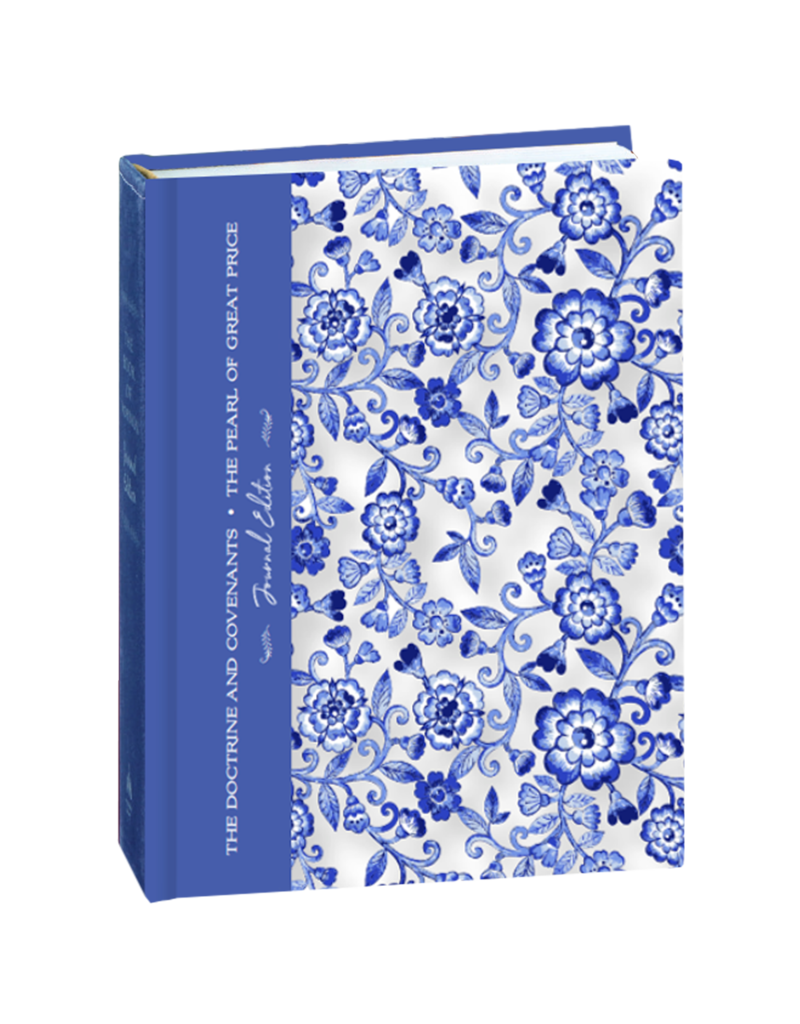 Blue Floral The Doctrine and Covenants and Pearl of Great Price, Journal Edition, Blue Floral by Deseret Book Company