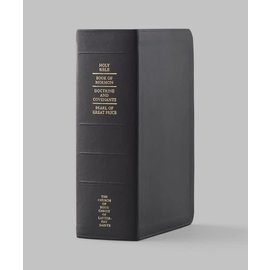 Church Distribution Thumb-indexed Genuine Leather Quad Combination BLACK REGULAR