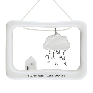 EastOfIndia 5633 Porcelain open frame-Storms don't last forever