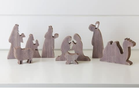 Accent Nativity Wood 9pc. (6 Inch)