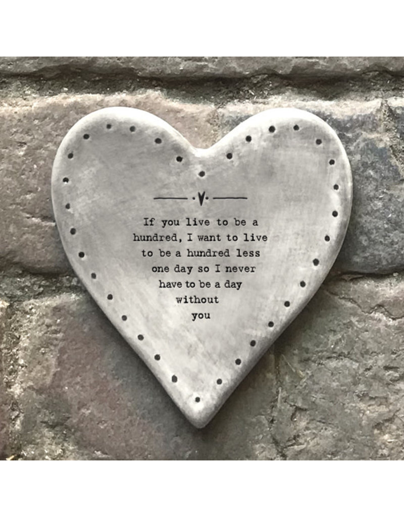 180 Rustic heart coaster-Live to be one hundred