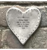 182 Rustic heart coaster-Strong women