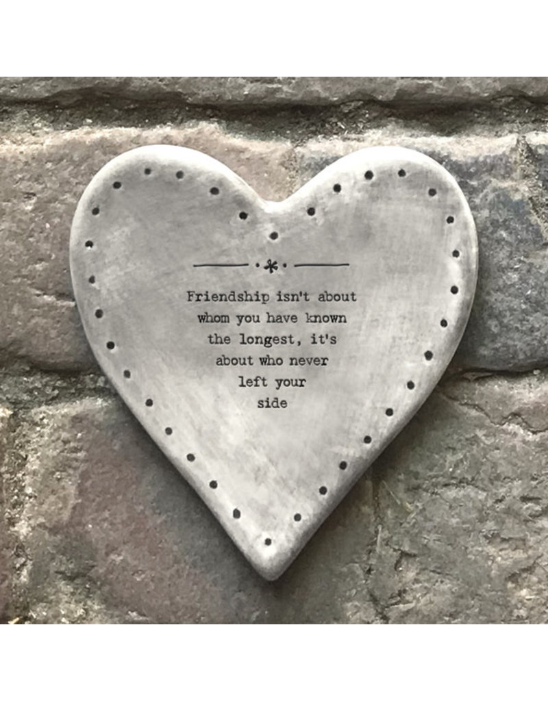 187 Rustic heart coaster-Friendship about the longest