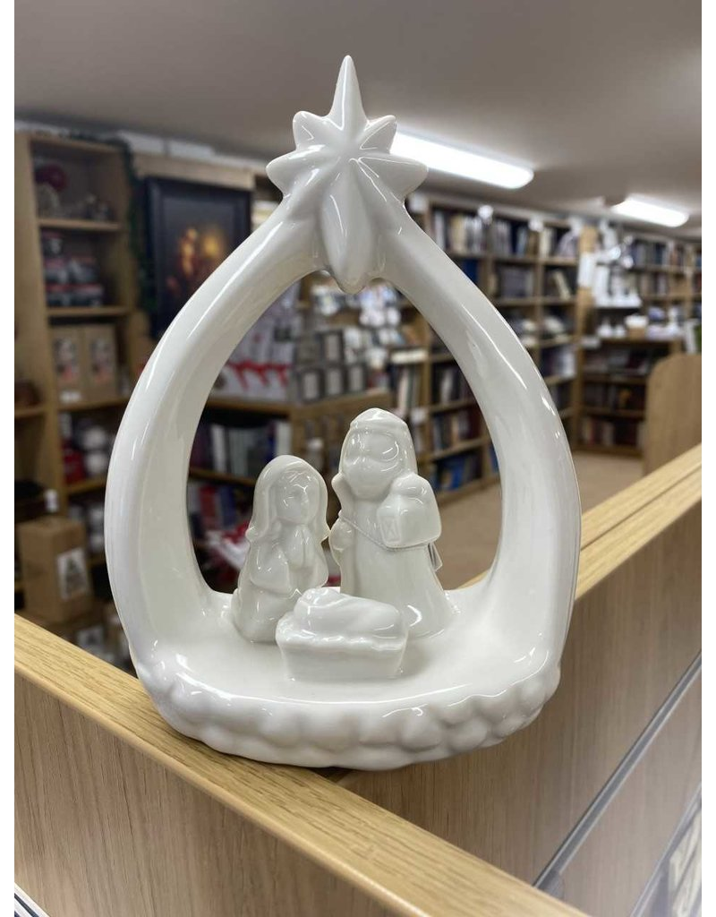 """Accent Nativity with Star White (6""""x 5"""")"""