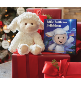 The Little Lamb from Bethlehem Book and Plush Lamb Gift Set by Kevin Keele, Christine Stevens Mower
