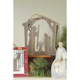 Seagull Books Accent Holy Family Ornament, Wood 6inch
