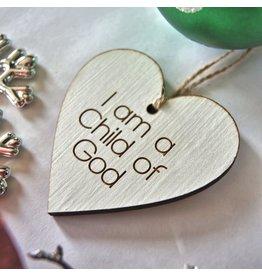 LBS 1830 I am a Child of God Ornament, Laser Cut Wood Ornament,