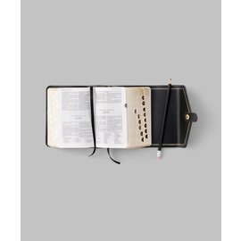 Church Distribution Compact, Thumb-indexed, Button-snap Genuine Leather Quad Combination