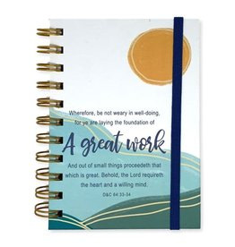 A Great Work 2021 LDS Youth Theme Journal Aqua