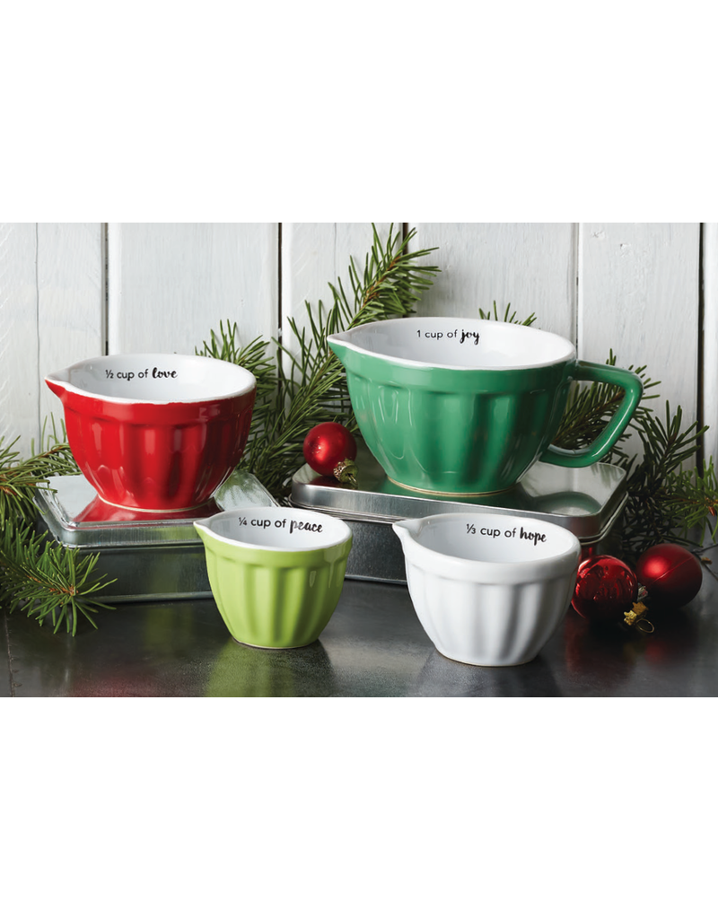 Christmas Red & White Measuring Cups, Set of 4 - Special Offer