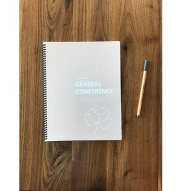 NurtureHomeCo General Conference Journal and Workbook - Floral Design (pale pink)