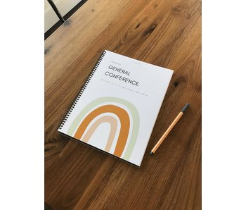 General Conference Journal and Workbook - Rainbow Design