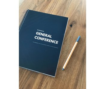 General Conference Journal and Workbook - Black & White Design