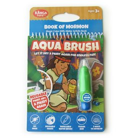 Kanga Toys Book of Mormon Aqua Brush Activity Book, Reusable Travel Activity